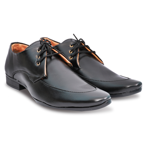 Shiny Black Formal Lace up Shoes