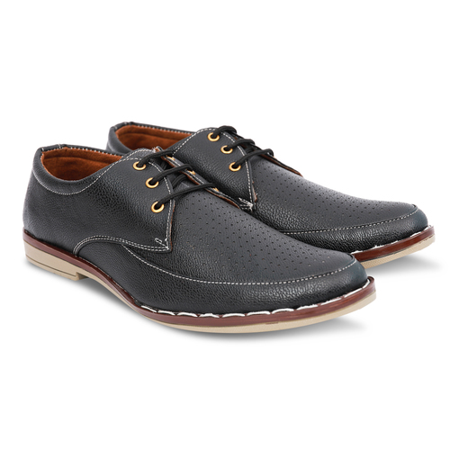 Black formal Shoe with Brown Sole