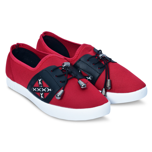 Red Black Casual Shoes