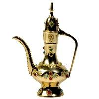Little India Antique Gemstone Brass Surahi Handicraft