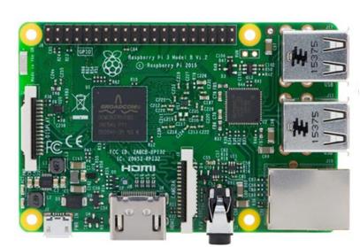 Raspberry Pi 3 Model B, Quad Core 1.2GHz CPU, 1GB RAM