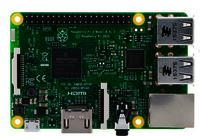 Raspberry Pi 3 Model B, Quad Core 1.2GHz CPU, 1GB RAM