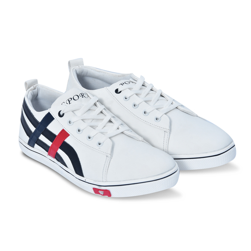 White Casual Shoe Lace Up
