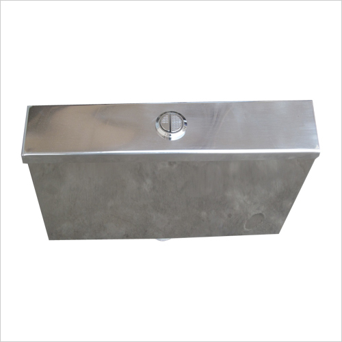 Stainless Steel Cistern with Dual Flush Internal Fitting Model No. SSC 525
