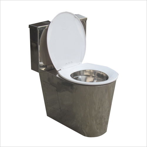 Stainless Steel EWC  Shorouded Model with S.S. Cistern and PVC Seat Cover