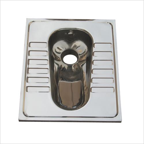 Stainless Steel Lavatory Pan Flush Type Model No. SSLP 210
