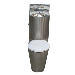 Stainless Steel Prison Toilet with seat cover