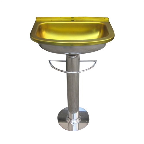 Stainless Steel Wash Basin with S.S. Pedestal Model  No. SSBP 278