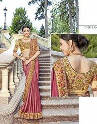 Heavy Designer Embroidery Saree