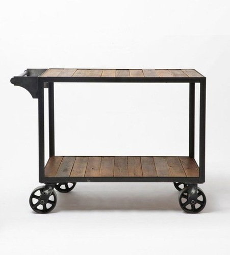 Industrial Wooden Trolley