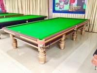 Gold Billiards Table In Steel Block