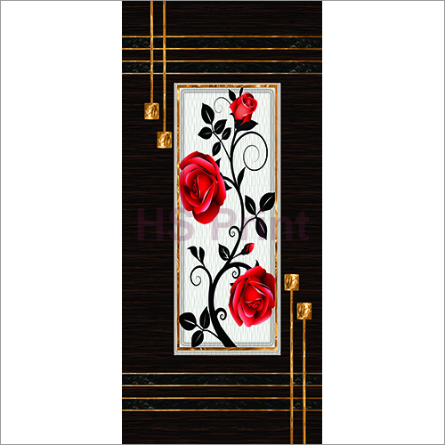 Floral Digital Door Print Skin