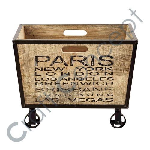 Paris Printed Wooden Box