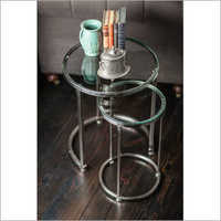Nickel Plated Antique Iron Table