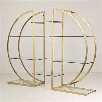 Brass Plated Antique Display Rack