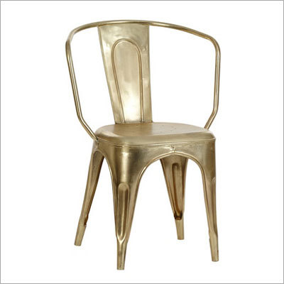 Brass Plated Iron Chair