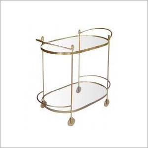 Brass Plated Iron Oval Trolley