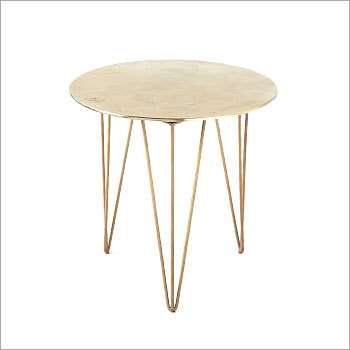 Brass Plated Iron Side Table