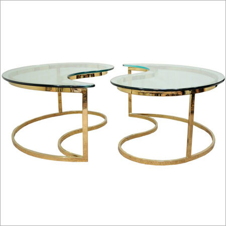 Brass Plated Pair Table