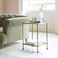 Brass Plated Side Table