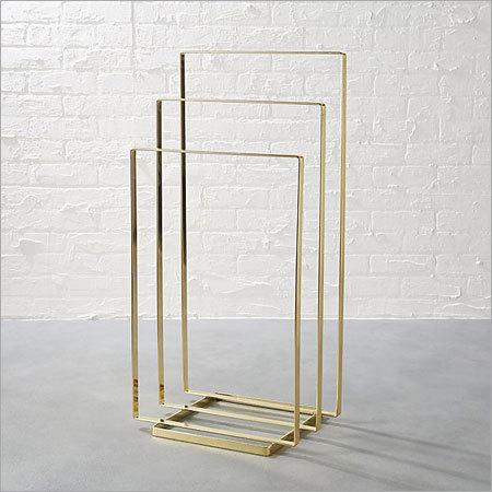 Brass Plated Towel Rack