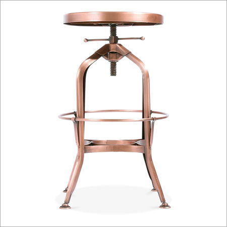 Copper Plated Bar Stool
