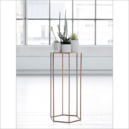 Copper Plated Pentagonal Table