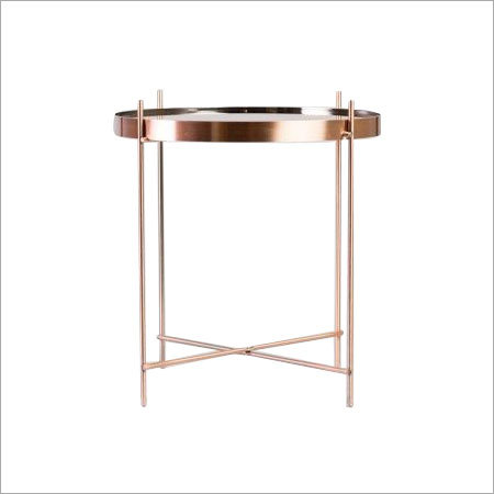 Copper Plated Side Table