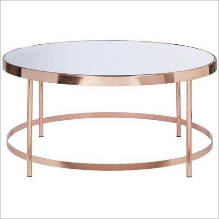 Copper Plating Round Glass Top
