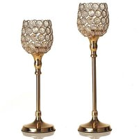 Gold Sparklers Wine Glasses Wedding Centerpieces Crystal