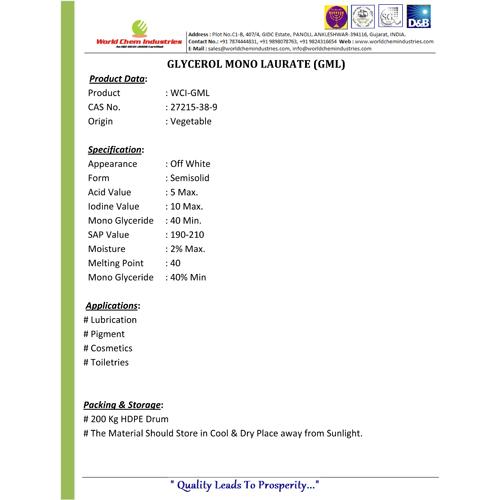 Glycerol Mono Laurate