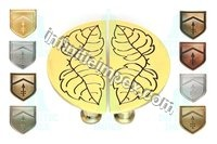 Brass Half Round Leaf Design Knob