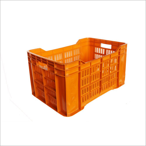 Orange Plastic Fruit Crates