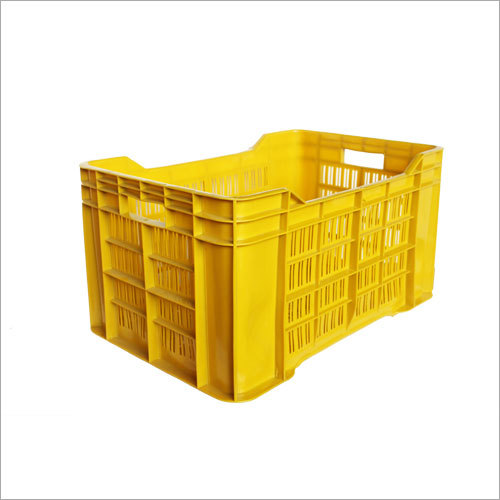 Yellow Plastic Fruit Crates