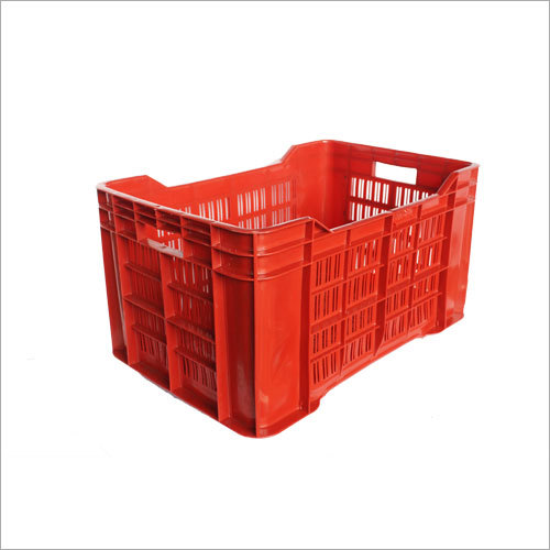 Red Plastic Vegetable Crates