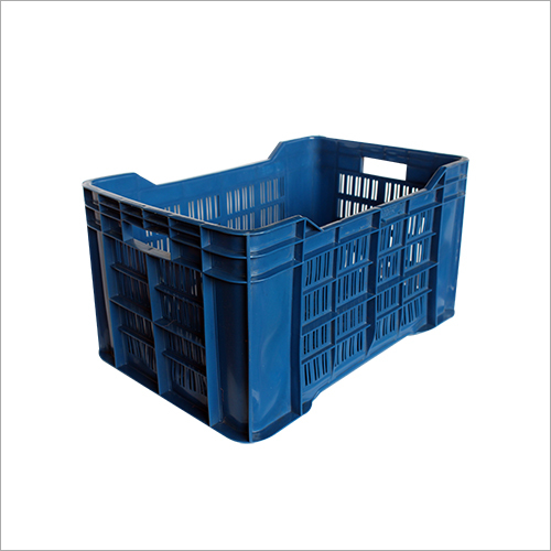 Blue Plastic Vegetable Crate
