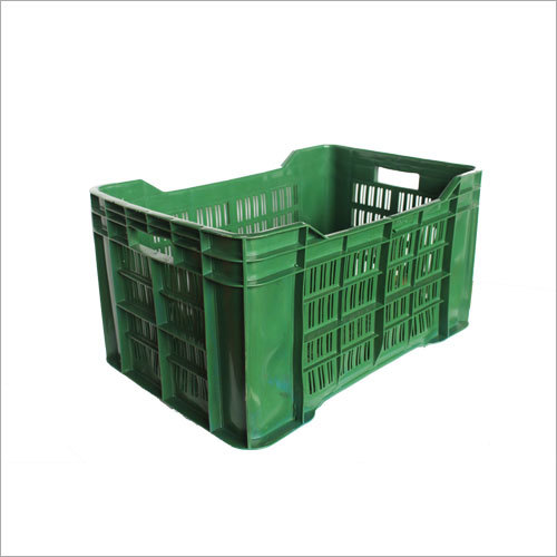 Green Plastic Vegetable Crates