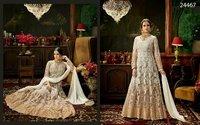 White Wedding Wear Anarkali Suit