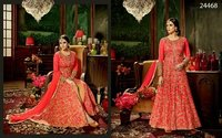 Heavy Red Bridal Wear Anarkali Suit