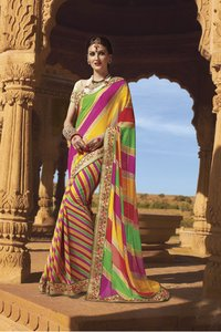 Designer Leheriya Printed Saree