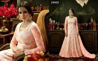 Heavy Designed Pink Anarkali Suit