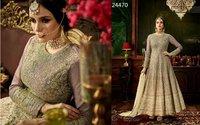 Gray Heavy Designed Anarkali Suit