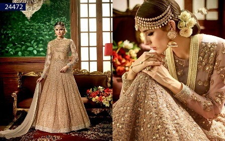 Heavy Embroidery Designed Anarkali Suit For Bride