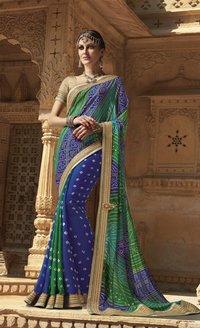 Designer Bandhni Printed Saree