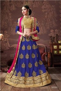 Wedding Wear Blue Lehenga Choli