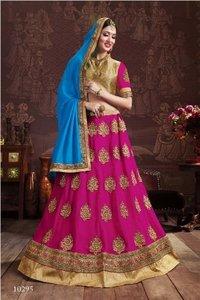 Bridal Wear Pink Designer Lehenga