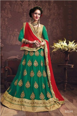 Bridal wear Green Lehenga Choli