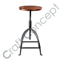 Metal & Sheesham Bar Stool
