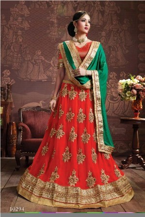 Red Designer Bridal wear Lehenga Choli