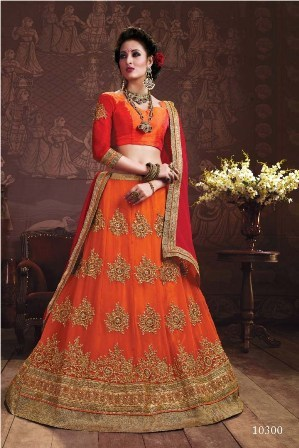 Orange Designer Lehenga